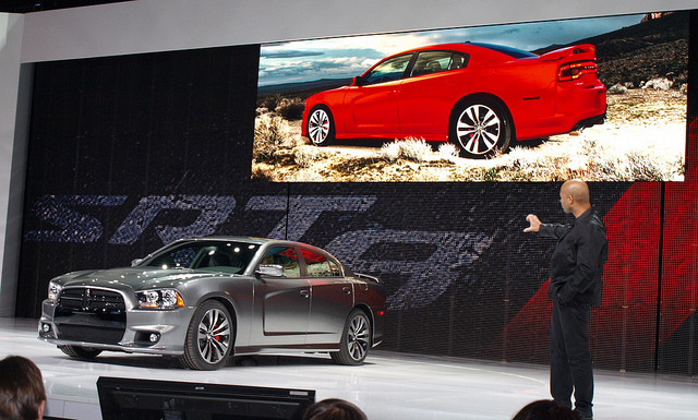 Ralph Gilles and the 2012 Dodge Charger SRT8 - All Photos by Randy Stern
