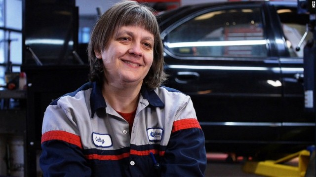 Cathy Heying of The Lift Garage - Photo courtesy of CNN