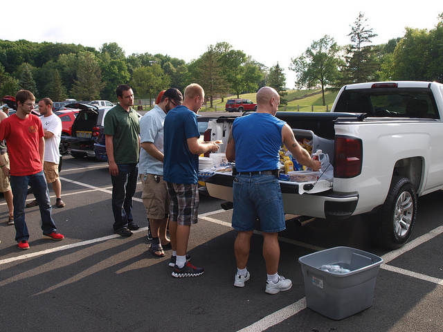 "InCarNation bringing everyone together for a ""tailgate."" - All Photos by Randy Stern"